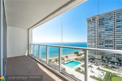 Fort Lauderdale Condo/Townhouse For Sale: 4300 N Ocean Blvd #10k