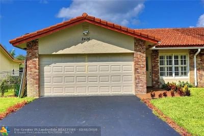 Coral Springs Single Family Home Backup Contract-Call LA: 2406 NW 91st Ave