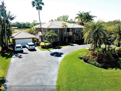 Southwest Ranches Single Family Home For Sale: 20950 SW 54th Pl