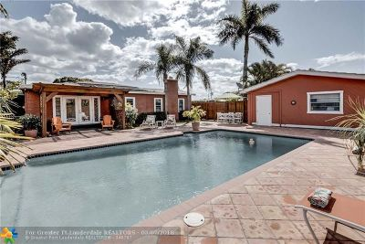 Wilton Manors Single Family Home For Sale: 517 NE 23rd St