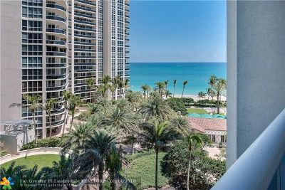 Fort Lauderdale Condo/Townhouse For Sale: 3100 N Ocean Blvd #905
