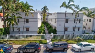 Miami Beach Condo/Townhouse For Sale: 1525 Pennsylvania Ave #6