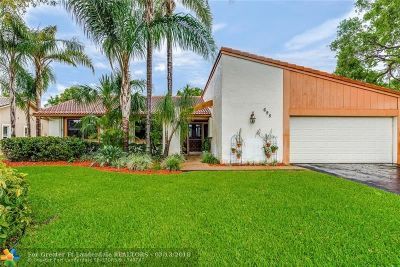 Coral Springs Single Family Home Backup Contract-Call LA: 695 NW 100th Ln