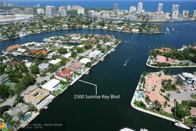 Sunrise Key Single Family Home For Sale: 2300 Sunrise Key Blvd