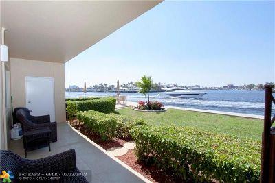 Pompano Beach Condo/Townhouse For Sale: 1201 S Riverside Drive #104