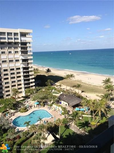 Lauderdale By The Sea Condo/Townhouse For Sale: 5000 N Ocean Blvd #1110