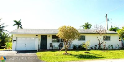 Oakland Park Single Family Home For Sale: 317 NW 48th Ct