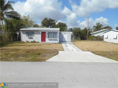 Pompano Beach FL Single Family Home For Sale: $197,500