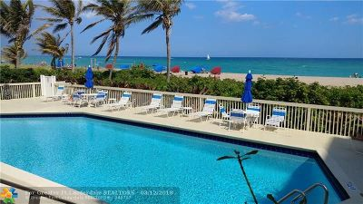 Pompano Beach Condo/Townhouse For Sale: 1500 N Ocean Blvd #304