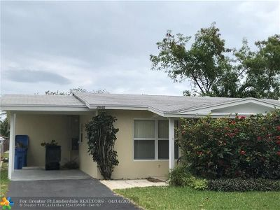 Oakland Park Single Family Home For Sale: 3440 NW 21st Ave