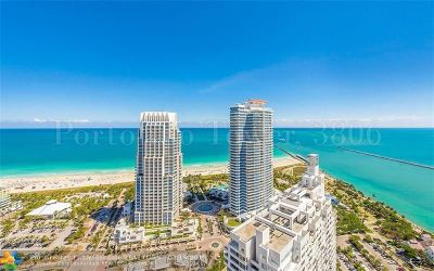 Miami Beach Condo/Townhouse For Sale: 300 S Pointe Dr #3806