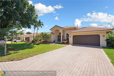 Coral Springs Single Family Home For Sale: 4304 NW 67th Way