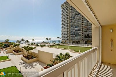 Fort Lauderdale Condo/Townhouse For Sale: 4300 N Ocean Blvd #2D