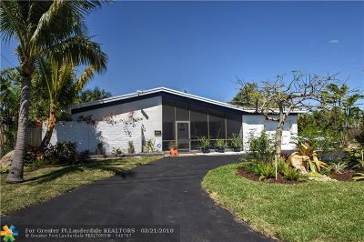 Oakland Park Single Family Home For Sale: 1807 NW 37th St