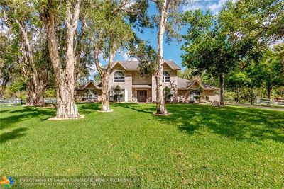 Plantation Single Family Home For Sale: 11601 NW 18th Ct