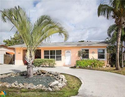 Pompano Beach Single Family Home For Sale: 1573 NE 31st St