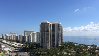 Fort Lauderdale Condo/Townhouse For Sale: 3015 N Ocean Blvd #17-D