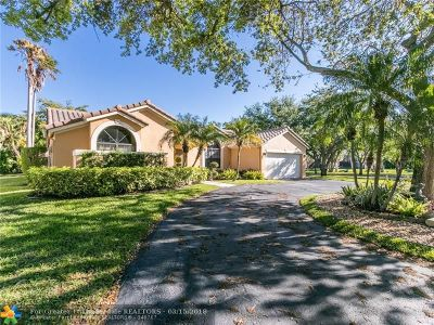 Coral Springs Single Family Home For Sale: 12015 SW 1st St
