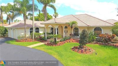 Coral Springs Single Family Home For Sale: 5437 W Leitner Dr