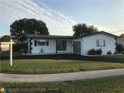Sunrise Single Family Home For Sale: 8300 NW 25th St