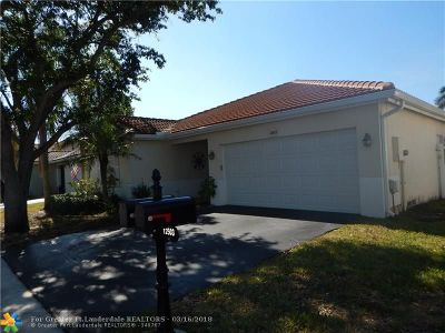 Sunrise Single Family Home For Sale: 12513 NW 10th Court