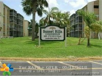 Lauderdale Lakes Condo/Townhouse For Sale: 3700 NW 21st St #312