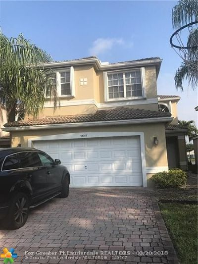Coconut Creek Rental For Rent: 3859 NW 62nd Ct
