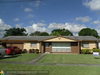 Lauderdale Lakes Single Family Home For Sale: 3411 NW 46th Ave