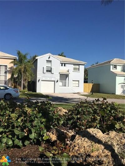 Margate Single Family Home For Sale: 3100 Green Turtle Pl
