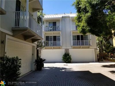 Wilton Manors Condo/Townhouse For Sale: 2685 NE 9th Ave #8