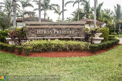 Coral Springs Condo/Townhouse For Sale: 6053 NW 118th Dr #6053