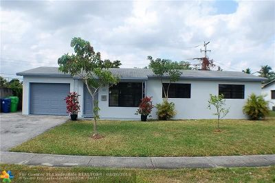 Sunrise Single Family Home For Sale: 6211 NW 15th St