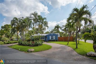 Fort Lauderdale Single Family Home For Sale: 826 Coconut Dr