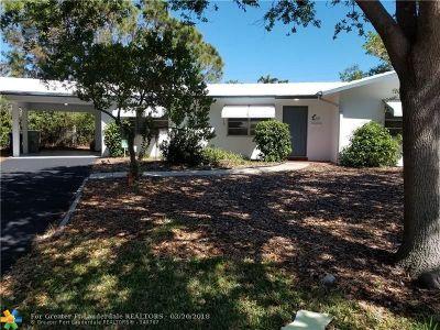 Pompano Beach Single Family Home Backup Contract-Call LA: 1240 NE 27th Ave