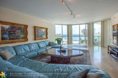 Fort Lauderdale Condo/Townhouse For Sale: 101 S Fort Lauderdale Beach Blvd #802
