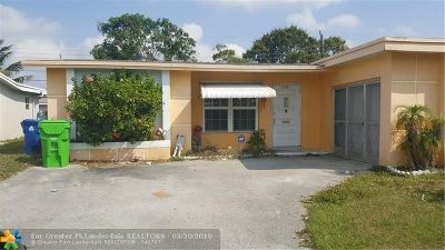 Sunrise Single Family Home For Sale: 6481 NW 29th St