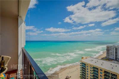 Hollywood Condo/Townhouse For Sale: 2301 S Ocean Dr #PH 2807