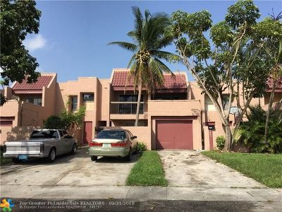 Lauderhill Condo/Townhouse For Sale: 1803 NW 56th Ter #9