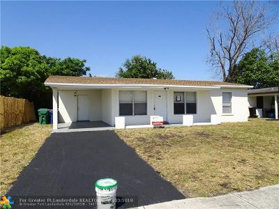 Lauderhill Single Family Home For Sale: 3241 NW 18th Ct