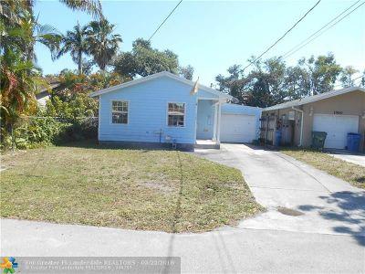 Oakland Park Single Family Home For Sale: 1568 NE 35th St