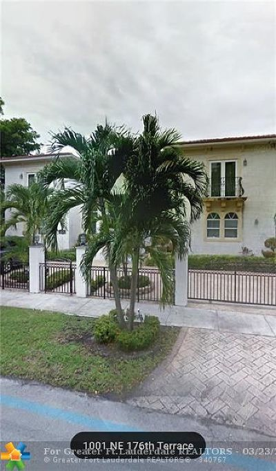 North Miami Beach Single Family Home For Sale: 1001 NE 176th Ter