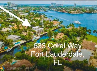 Fort Lauderdale Single Family Home For Sale: 633 Coral Way