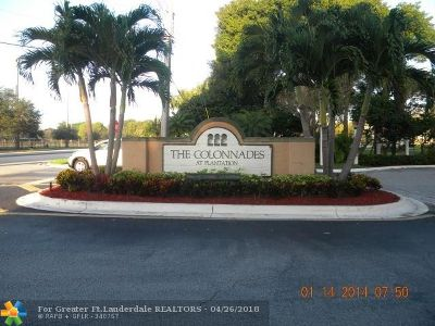 Plantation Condo/Townhouse For Sale: 717 NW 92nd Ave #717