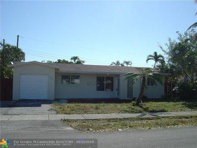 Pompano Beach FL Single Family Home For Sale: $235,000