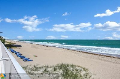 Lauderdale By The Sea Condo/Townhouse For Sale: 3900 N Ocean Dr #17C