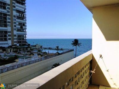 Condo/Townhouse For Sale: 4250 Galt Ocean Dr #5j