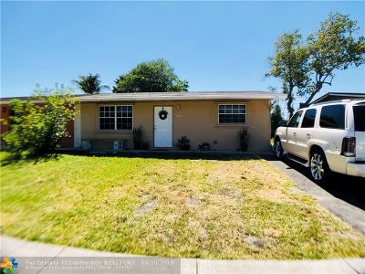 North Lauderdale Single Family Home Backup Contract-Call LA: 7012 SW 19th St