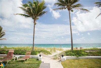 Pompano Beach Condo/Townhouse For Sale: 1431 S Ocean Blvd #61