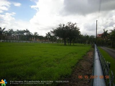 Southwest Ranches Residential Lots & Land For Sale: 13240 & 13260 Stirling Rd