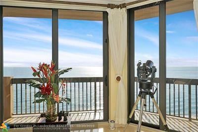 Pompano Beach Condo/Townhouse For Sale: 1300 S Ocean Blvd #801